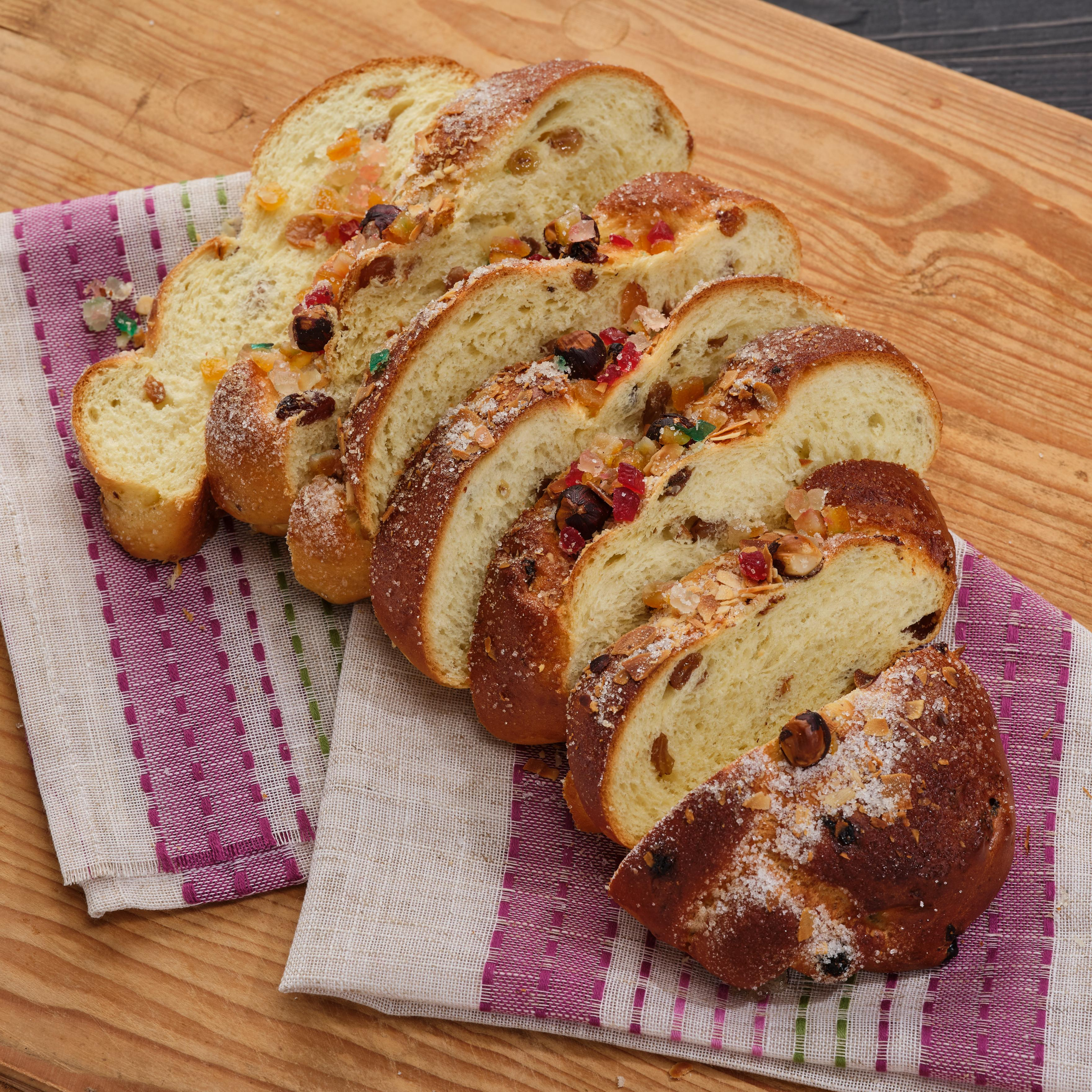 Easter bread with nuts and candied fruit!